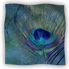 Kess InHouse Vasare NAR Eye Graphic Blue Black Fleece Throw Blanket 60 by 50