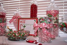 Christmas Candy Buffet- for sure going to do this in my dining room!!