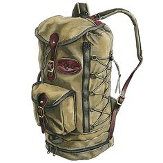 Tall & cinch-able - Pack a little or a lot, the Boulder Junction is a functional waxed canvas daypack. Made in USA & Guaranteed for Life. Bushcraft Pack, Bushcraft Camping, Bushcraft Backpack, Waxed Canvas, Canvas Leather, Leather Bags, Boulder Junction, Deer Hide, Bag Illustration