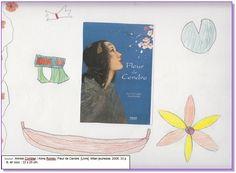 """Couverture réalisée par Sabrina, à partir du livre """"Fleur de cendre"""" d'Annick Combier. Pour voir mon livre, il faut cliquer sur mon dessin."""