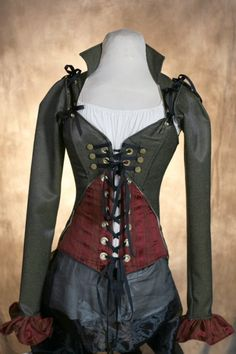 CUSTOM FIT Steampunk Tea Party Corset Set Yes. I need this.