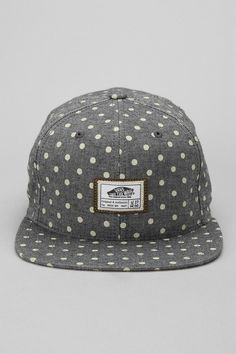 hat | bill // gray // white polka dot print