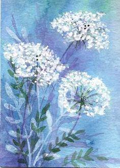 Watercolor/white acrylic