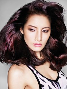 Trend Of Hair Colours 2014 -Dark red hair color - Hair Fashion - Care - Skin care , beauty ideas and skin care tips Hair Colours 2014, Hot Hair Colors, Hair Color Purple, Red Purple, Pink Color, Yellow, Violet Brown Hair, Dark Red Hair, Burgundy Hair