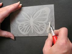 How to cut a lino block