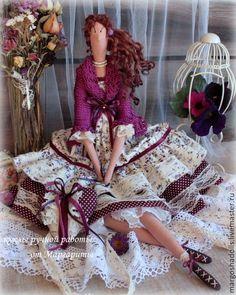 Купить Кукла в стиле Тильда.Бохо-дива Фиона - фуксия, аметистовый цвет, бохо-стиль