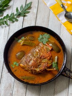 Fish Head Curry | How to make Singapore Fish Head Curry | Meen Thalai Curry | South Indian Fish Recipes  FoodBlogs.com