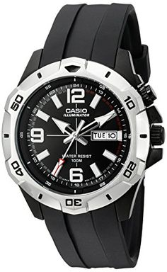 bc009dd9d Amazon.com: Casio Men's MTD1082-1AV Super Illuminator Analog Black Resin  Watch: Watches