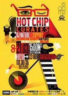 HOT CHIP CURATES! / POSTER / 2014 by Agata DUDU Dudek, via Behance