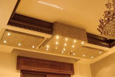 False ceiling design for high ceiling living room
