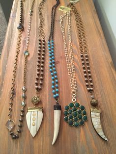Assorted one of a kind necklaces. Email lisajilljewelry@gmail.com
