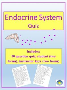 endocrine system essay questions An essay or paper on study of the nervous system the nervous system is one of the most complicated systems of the body along with the endocrine system, it controls many bodily activities through a variety of methods.