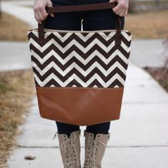 Leather Bottom Tote