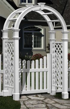 Garden Gate Arbors Designs gate arbor pictures good neighbor fence with lattice and t trellis Arbor With Gate