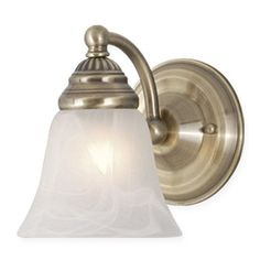 Vaxcel Lighting WL35121 Standford 1 Light Wall Sconce Antique Brass Indoor Lighting Wall Sconces Down Lighting
