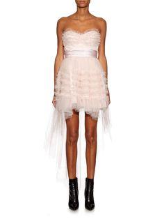 Strapless tulle dress | Saint Laurent | MATCHESFASHION.COM US