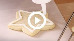 Mix a one-minute easy version of royal icing, and decorate pro-level cookies in just two steps with this one simple trick.