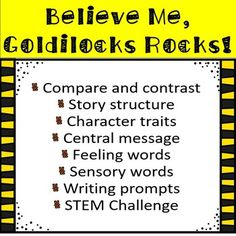 This is a companion pack for the fractured fairy tale Believe Me, Goldilocks Rocks! by Nancy Loewen. There are 36 pages of 1st grade Common Core aligned worksheets. There are several differentiated versions of each worksheet that you can choose from depending on your