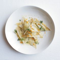 Goat Cheese Ravioli with Orange and Fennel | Food & Wine