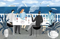 Freelance illustrator Katerina Gorelik has created this series of illustrations that depict everyday occurrences, sprinkled with more dramatic moments. Part of a personal project, these illustrations have been made for a book, but out of context and in their singular panels they feel like odd snapshots of unknown characters, as though we've stumbled across a stranger's photographs in an old house.