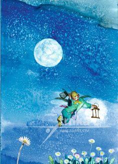 Jiří Trnka for Jan Karafiát's Broučci (Little Beetles) Winter Fairy, Children's Picture Books, Animation Film, Book Illustration, Van Gogh, Childrens Books, Fairy Tales, Cartoon, Fine Art