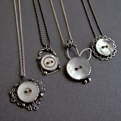 Vintage Button Necklaces | Flickr - Photo Sharing! A gorgeous idea for buttons