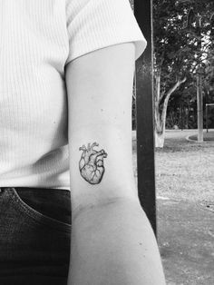 34 best anatomical heart tattoos images in 2013 Little Tattoos, Mini Tattoos, Body Art Tattoos, Sleeve Tattoos, Tatoo Heart, Heart Tattoo Images, Tattoos For Women Small, Small Tattoos, Cool Tattoos