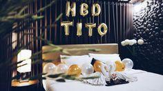 Romantic room birthday surprise decoration • Divine project bali