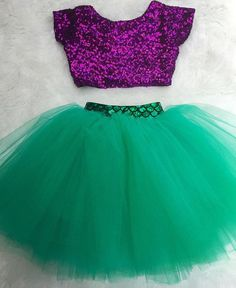Baby girls purple sequin crop top by EverAfterFairytales on Etsy