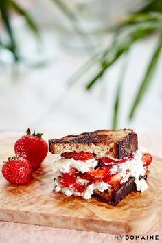 ricotta and strawberry grilled cheese: Ricotta cheese Honey ...