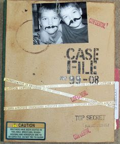 """""""Case File""""- mini album featuring boys and their mischief- many photos! live. love. scrap."""