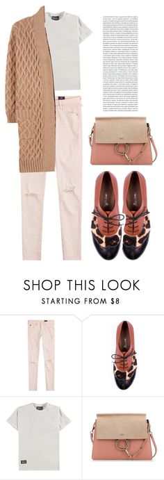 """""""Untitled #581"""" by coffeegirl233 ❤ liked on Polyvore featuring AG Adriano Goldschmied, Hero's Heroine, Chloé, Maison Margiela and Oris"""