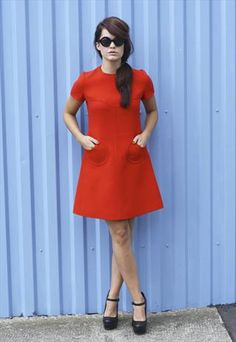 1960S RED MOD DRESS. I have a million patterns for these!