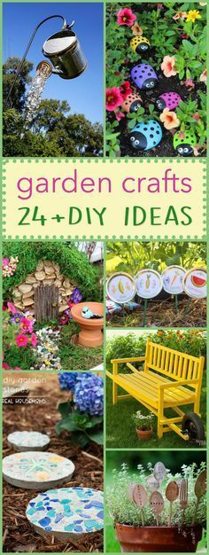These DIY garden crafts are the perfect projects to display throughout your garden. These crafts are a fun