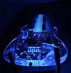 pictures of clear guitars   Mr. Plastics - Design Portfolio - Acrylic Guitar