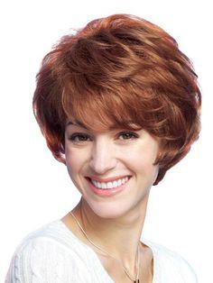 Chic 100% Human Hair Wig Full Lace Short Straight Reddish Blonde Free Shipping$219.99
