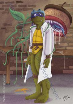 trazando un pequeño destino.: Homenaje a TMNT Donatello