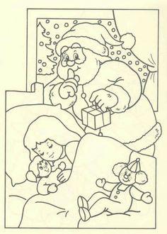 coloring page Christmas Santa Claus - Christmas Santa Claus