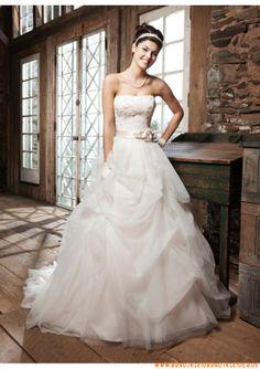 Schöne und süße Brautkleider aus Organza Ballkleid mit Blumen online 2013