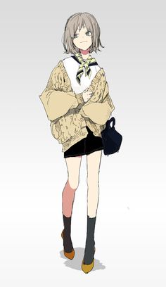 Anime Girl Drawings, Anime Art Girl, Manga Girl, Pretty Art, Cute Art, Art Poses, Art Reference Poses, Anime Outfits, Character Drawing
