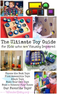 In this toy guide, you will learn how to find the best toys for your child who is blind, including what to look for in off-the-shelf toys and how to adapt or make your own toys so they meet your child's needs.