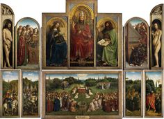 Jan van Eyck : Ghent Altarpiece, completed 1432. (Saint Bavo Cathedral, Ghent) ヤン・ファン・エイク