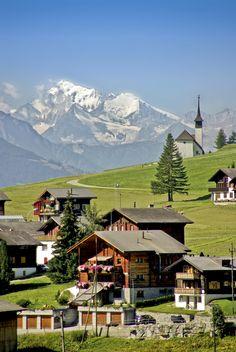 A swiss village in Rhone valley near Münster_ Switzerland