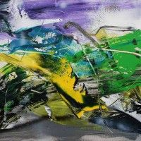 Abstract Artist: Jan van Oort Medium: Acrylic, Mixed Media Website: www. Abstract Painting Techniques, Drawing Techniques, Painting & Drawing, Abstract Art, Abstract Paintings, Art And Craft Videos, Arts And Crafts, Artist Gallery, Art Tutorials