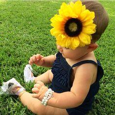 Large Yellow Sunflower Headband  on Etsy, $14.75