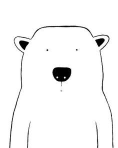 Modern Kids and Nursery Polar Bear Art Original Painting - x on regular depth canvas - The Polar Bear Mehr Art Original, Original Paintings, Posca Art, Motifs Animal, Dibujos Cute, Bear Art, Modern Kids, Painting Edges, Cute Illustration
