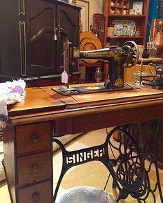 Antique treadle Sewing machine, just like Grandma had! | Nora's Antiques