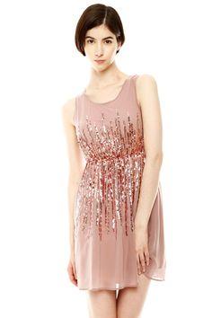 Sequin Detail Party Dress.