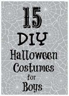 Amazing #DIY #costume tutorials for boys! Love the Facebook page and claw machine!