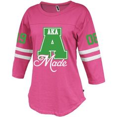 Alpha Kappa Alpha Vintage Stripe Jersey - Letters Greek Apparel - Black Greek Paraphernalia - Divine Nine Greek Apparel - Atlanta Greek Store Aka Sorority Gifts, Alpha Kappa Alpha Sorority, Sorority Outfits, Sorority Shirts, Sorority Life, Striped Jersey, White Jersey, Aka Apparel, Alpha Kappa Alpha Paraphernalia